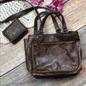 Vintage Relic Bag & Wallet Western Tooled Style